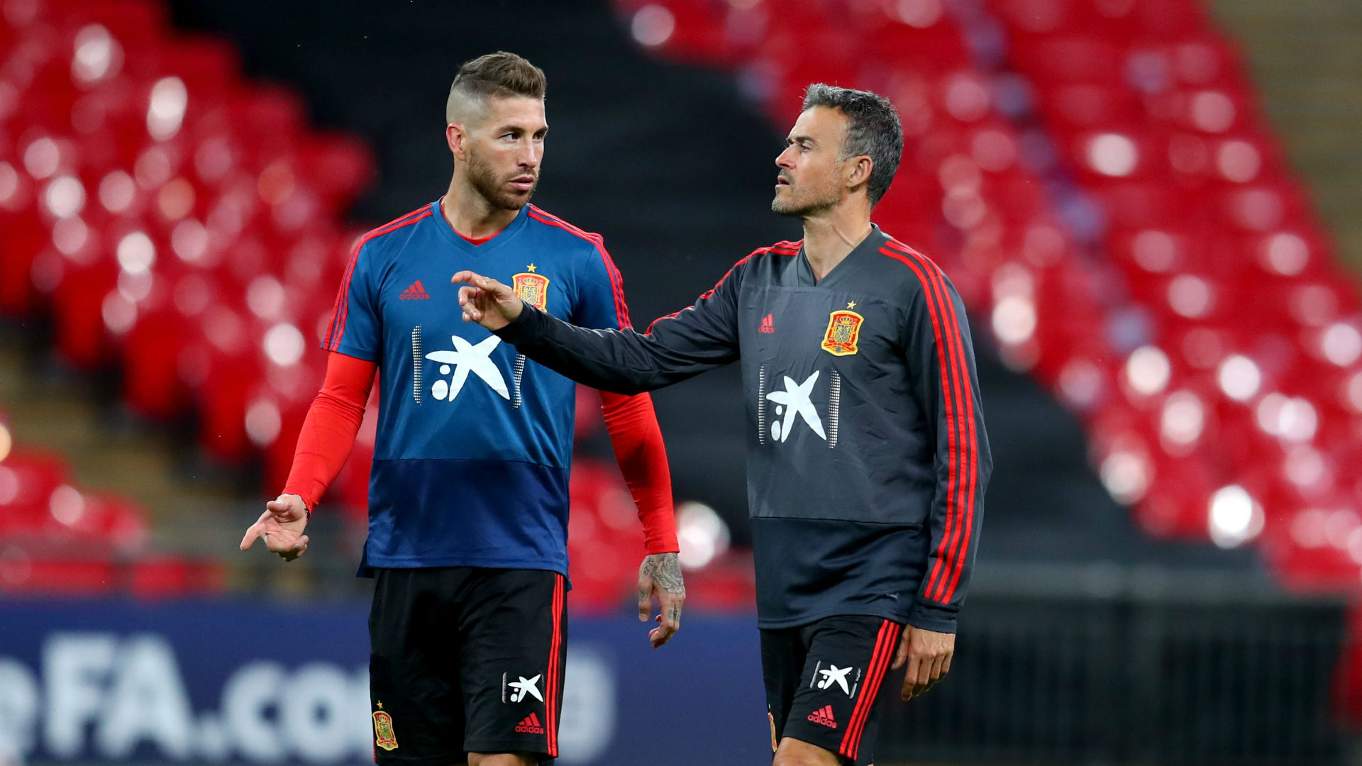 Sergio Ramos' honest message of support for Spain coach Luis Enrique