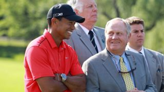 Tiger Woods and Jack Nicklaus in 2012