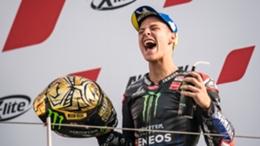Fabio Quartararo was crowned MotoGP champion after finishing fourth at the Emilia Romagna Grand Prix