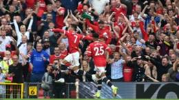Cristiano Ronaldo scored twice on his second Man Utd debut