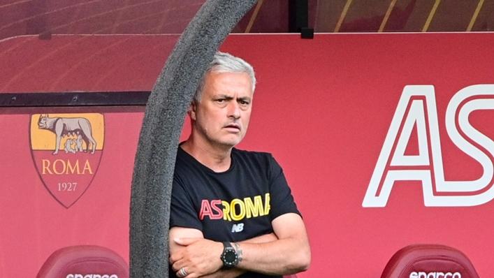 Jose Mourinho during Roma's 10-0 win