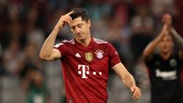 Robert Lewandowski was left frustrated against Eintracht Frankfurt