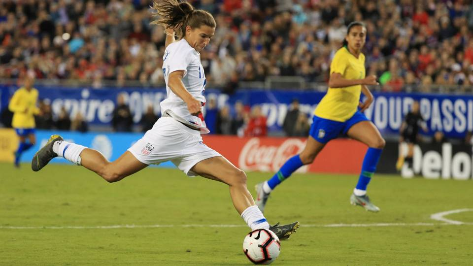 USWNT finishes SheBelieves Cup with victory over Brazil