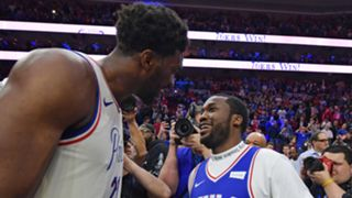 Joel Embiid and Meek Mill