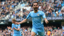 Bernardo Silva celebrates his early City goal
