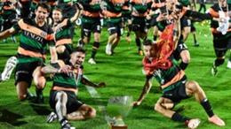 Venezia celebrate their promotion to Serie A
