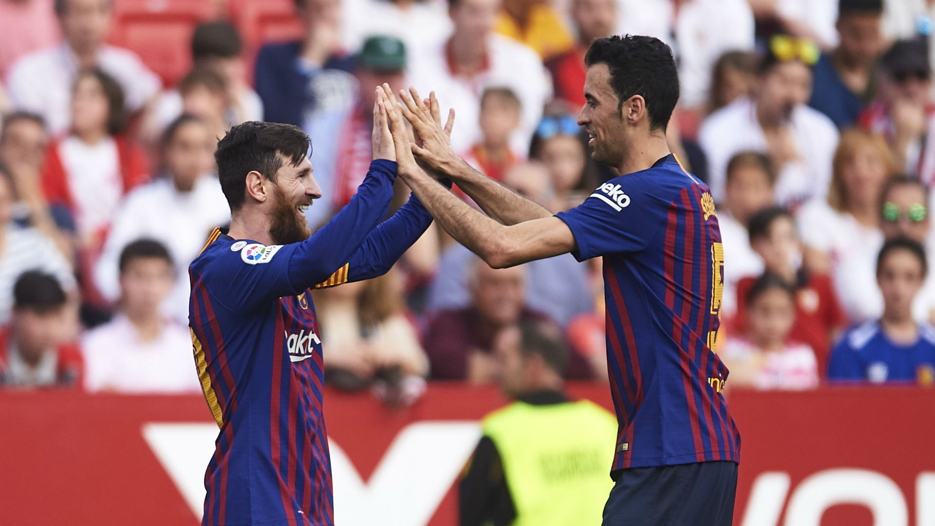 Messi hat trick guides Barcelona past Real Betis