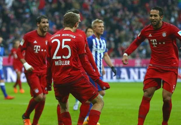 Bayern München 2 - 0 Hertha BSC Match report - 11 28 15 Bundesliga ... e8e2317c2