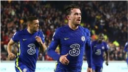 Ben Chilwell celebrates his goal for Chelsea against Brentford