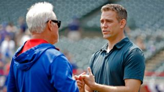 Theo Epstein with Joe Maddon