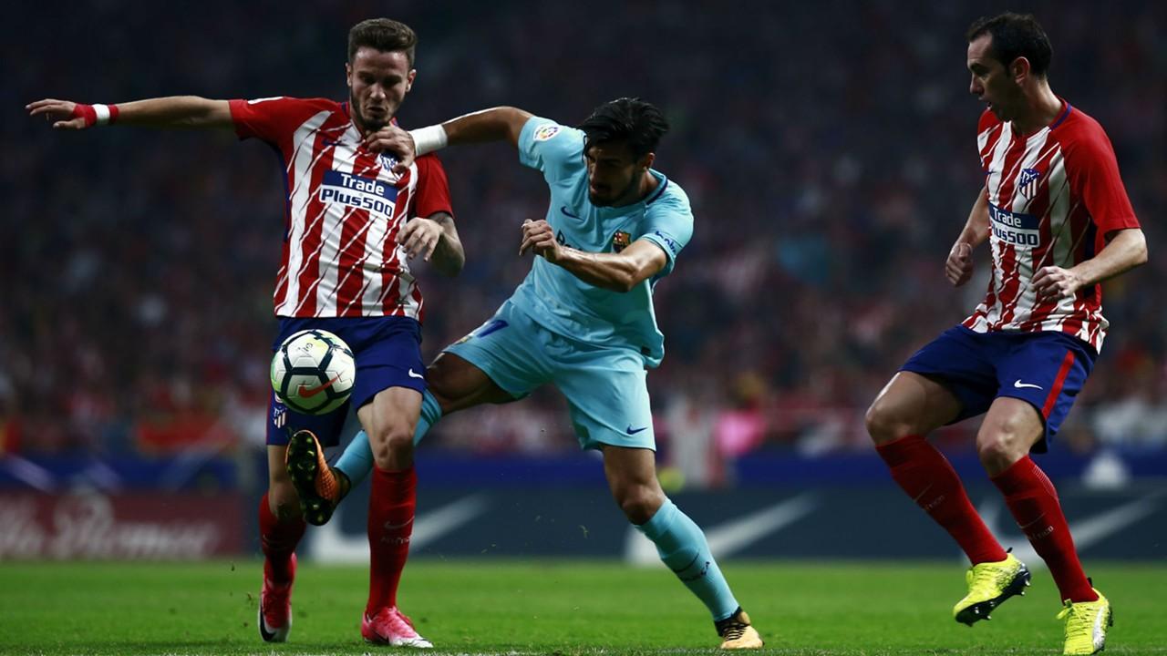 El Atlético corta la racha triunfal del Barça que sólo puede empatar en el Wanda.