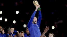 Hugo Lloris of France with the World Cup Trophy