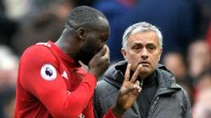 Romelu Lukaku and Jose Mourinho