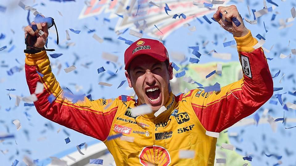 NASCAR: Joey Logano holds off Kurt Busch to win at Talladega