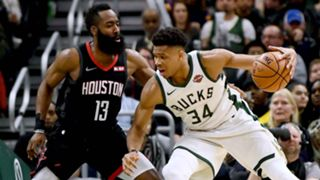 James Harden and Giannis Antetokounmpoa