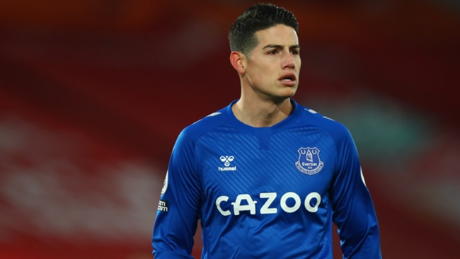 Everton could welcome back James Rodriguez for the visit of Sheffield United