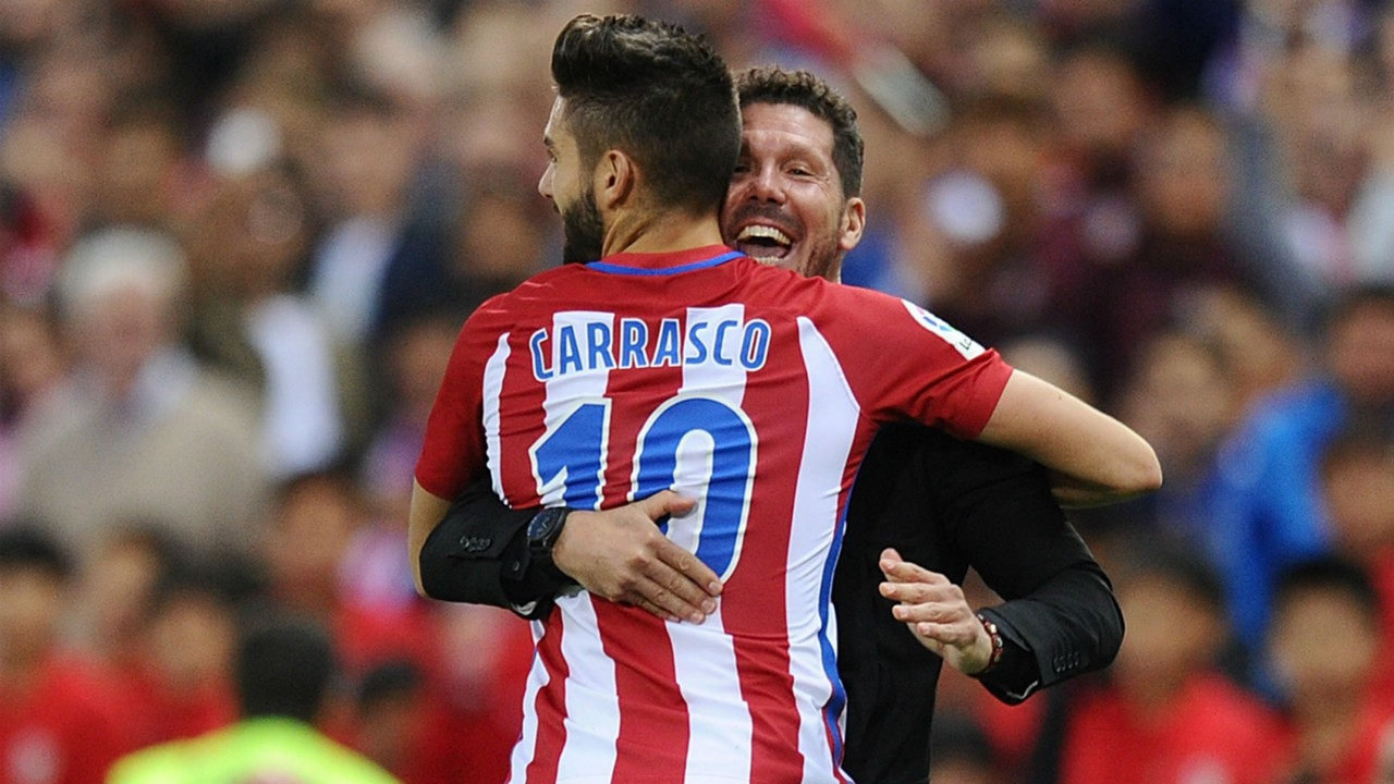Atletico Madrid s Diego Simeone on Yannick Carrasco