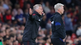 Ole Gunnar Solskjaer reacts during United's defeat