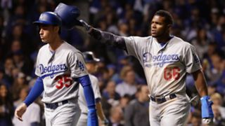 Cody Bellinger (left) and Yasiel Puig (right)