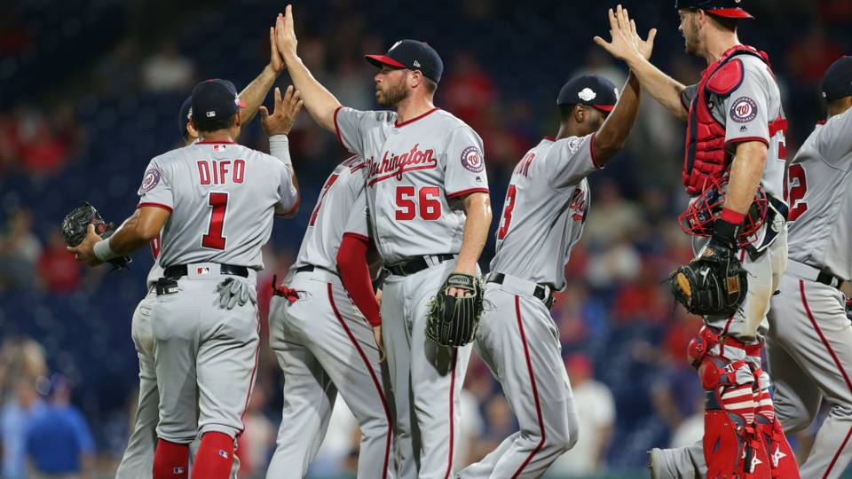 MLB wrap: Nationals complete comeback against Phillies with 3 runs in 9th