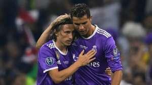 Luka Modric and Cristiano Ronaldo - cropped