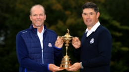 Steve Stricker and Padraig Harrington with the Ryder Cup