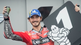 Francesco Bagnaia broke the lap record at the Aragon GP