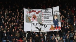 Crystal Palace fans unveil banner criticising Newcastle United takeover