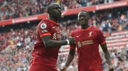 Liverpool's Sadio Mane celebrates his goal against Crystal Palace