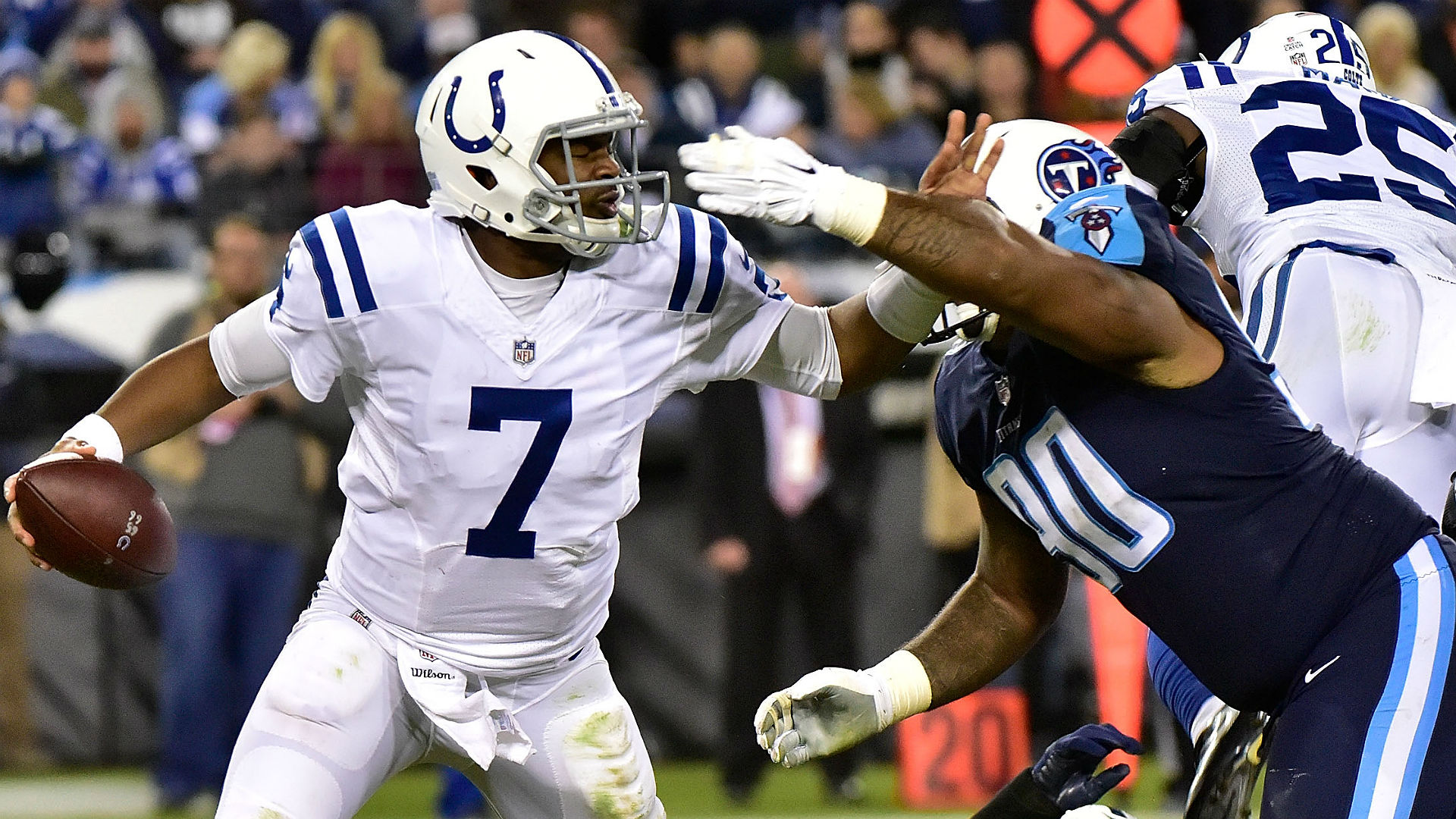 Colts laud 'tough as nails' Jacoby Brissett for taking on NFL-high 47 sacks
