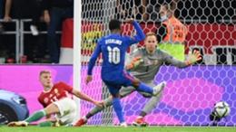 Raheem Sterling scores against Hungary