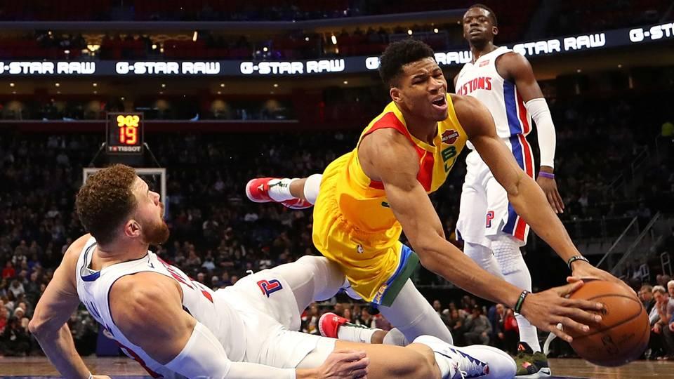 NBA wrap: Giannis Antetokounmpo, Bucks overcome Pistons' late-game surge to pick up win