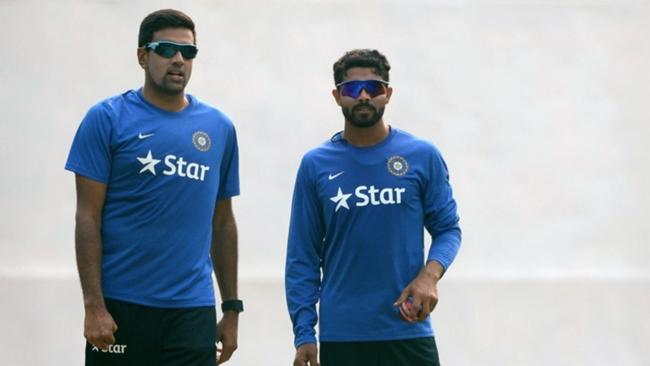 India spinners Ravichandran Ashwin (left) and Ravindra Jadeja
