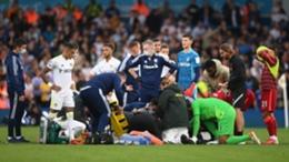 Harvey Elliott suffered a nasty injury against Leeds