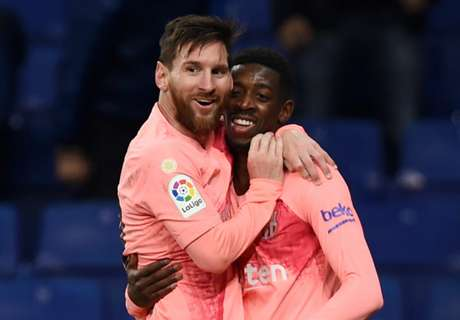 Messi makes game easier - Dembele