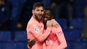 Lionel Messi and Ousmane Dembele - cropped