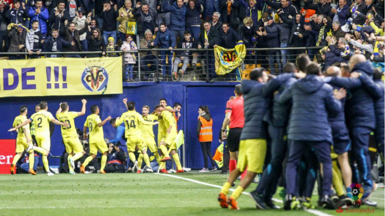 Image result for villarreal 2-1 atletico madrid