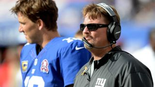 Ben McAdoo, right, and Eli Manning