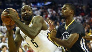Kendrick Perkins (left) and Harrison Barnes
