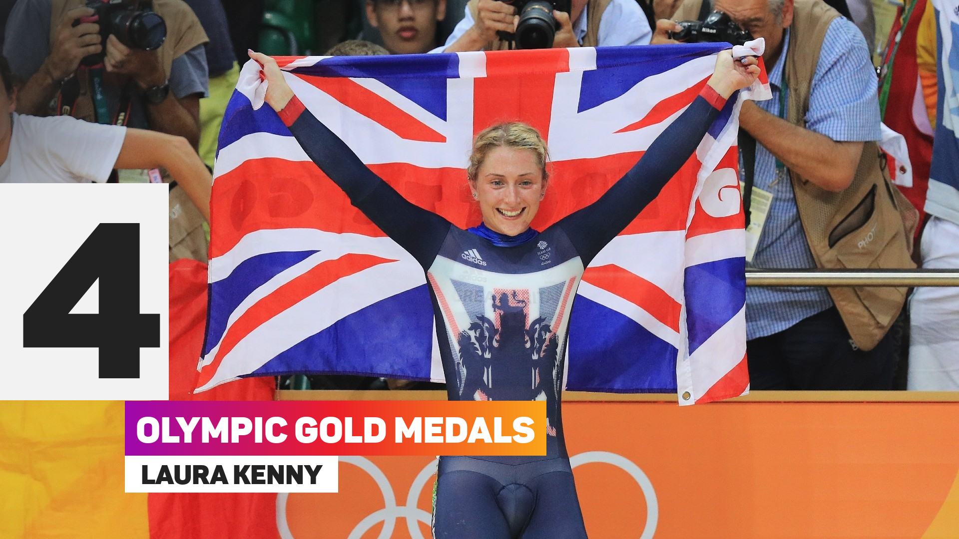 Laura Kenny has won four gold medals