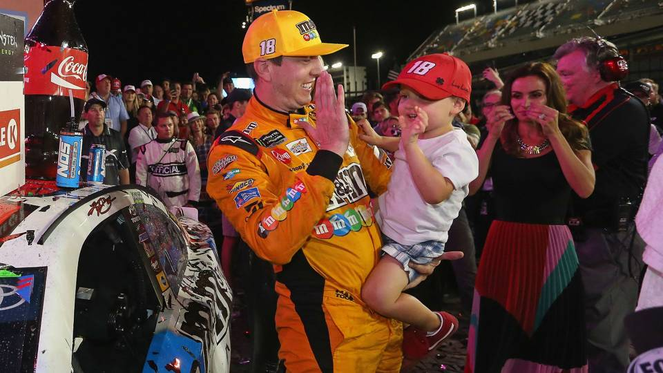 Watch: Kyle Busch's kid thrilled after Coca-Cola 600 victory: 'Daddy, you gained, you gained!'