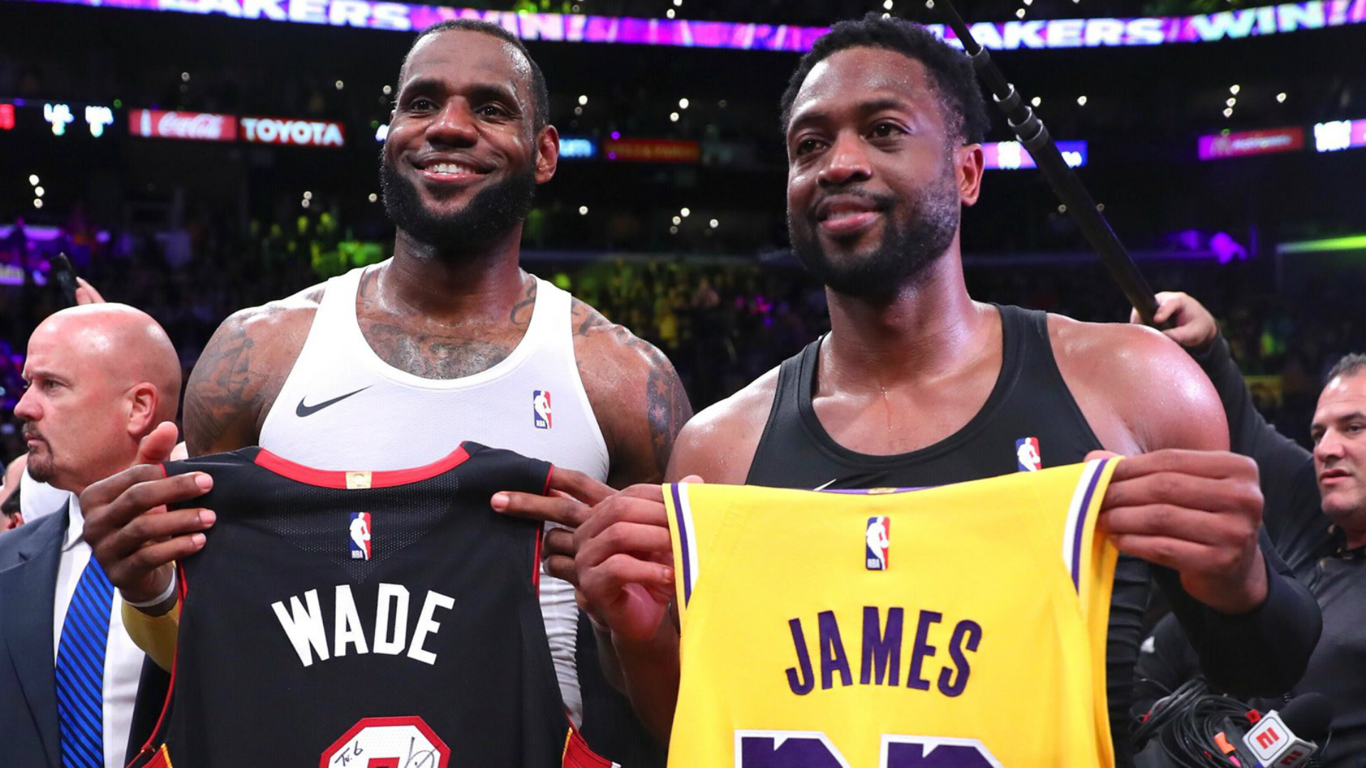 Sons of LeBron James, Dwyane Wade teaming up for school