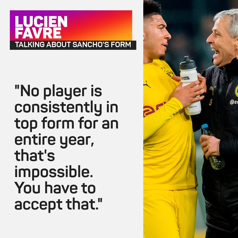 Lucien Favre defended Jadon Sancho in October last year