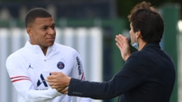 Mbappe was greeted by PSG's sporting director Leonardo on Saturday