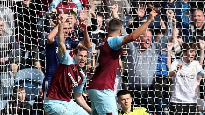Chris Wood celebrates scoring the 30,000th Premier League goal