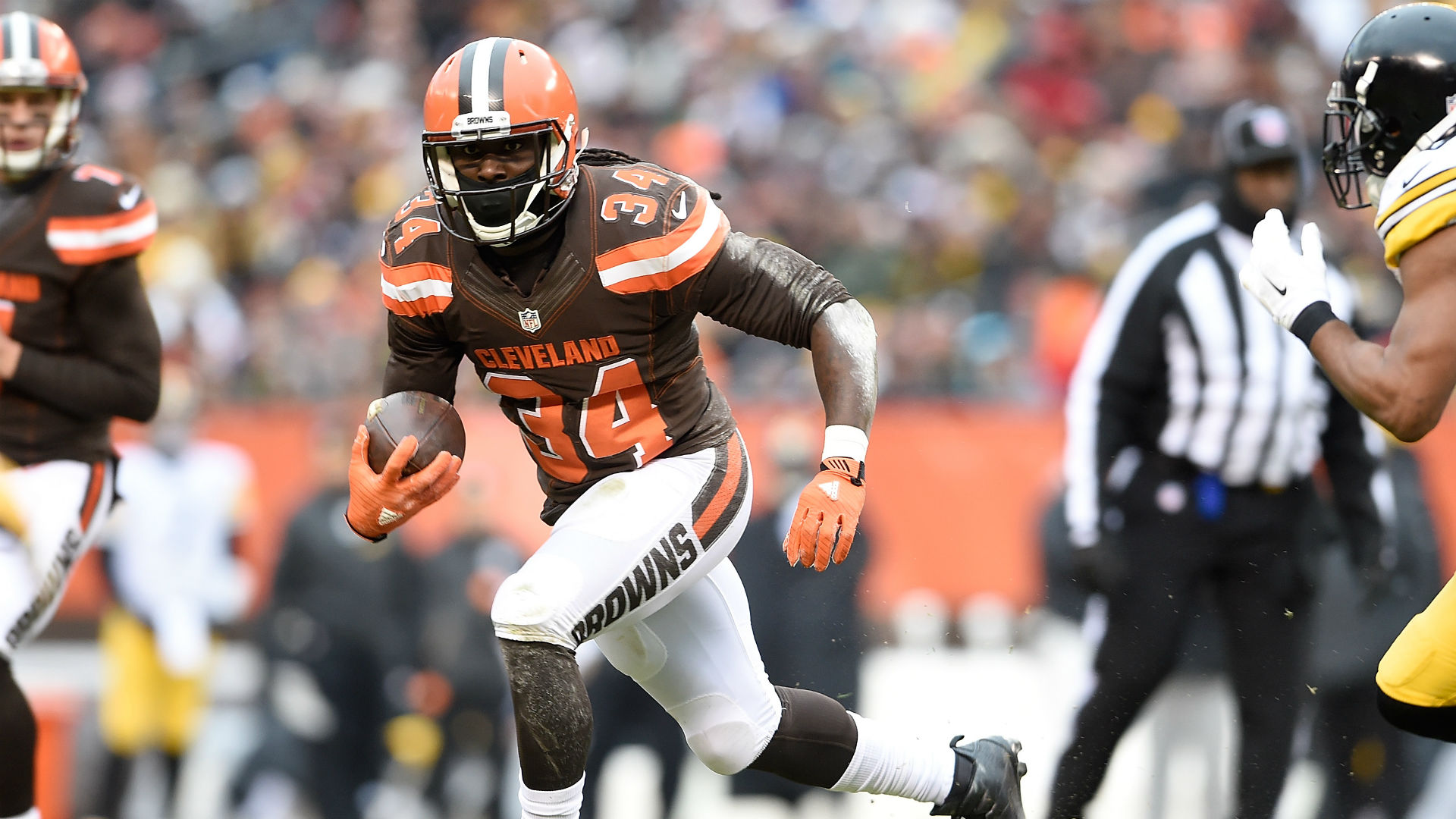 designer fashion 85659 119fc Browns RB Isaiah Crowell shares, deletes graphic image ...