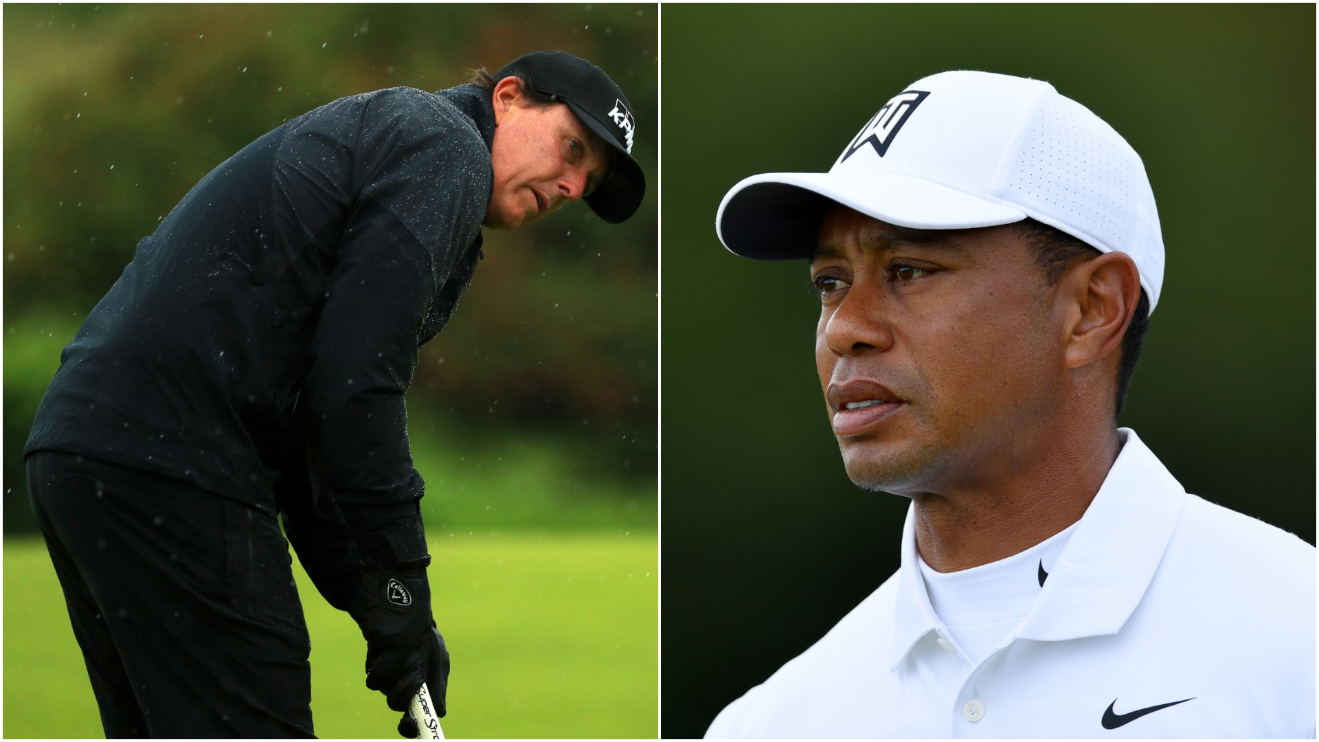 british open 2019  tiger woods  phil mickelson miss same