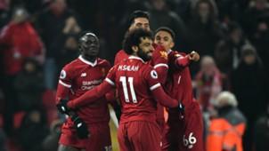 Sadio Mane with Mohamed Salah