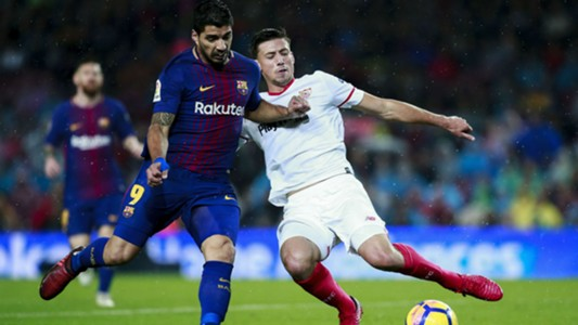 Image result for The French youngster has a burgeoning reputation in Spain, but he wants to continuing developing in his current club despite interest from Camp Nou  Clement Lenglet insists he is in no rush to quit Sevilla for Barcelona after reportedly attracting the Catalan giants' interest thanks to a strong start to life in La Liga.  The 22-year-old joined Sevilla from Nancy for a reported €5million in January and swiftly made an impression on coach Jorge Sampaoli, making 17 appearances in La Liga – 15 of which came from the start.