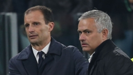 Massimiliano Allegri (l) and Jose Mourinho are both managing in Serie A this season